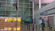 Inundació a l'aeroport de Barcelona
