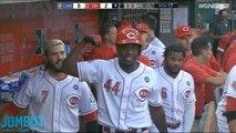 Reds Rookie, Aristides Aquino hits 3 home runs in a row, a breakdown