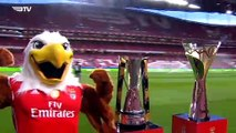 Benfica are presented with the 2019 International Champions Cup trophy