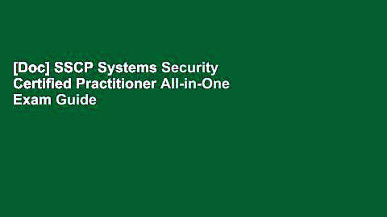 [Doc] SSCP Systems Security Certified Practitioner All-in-One Exam Guide