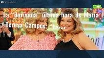 """La """"durísima"""" última hora de María Teresa Campos: """"Terelu y Carmen Borrego están rotas"""""""