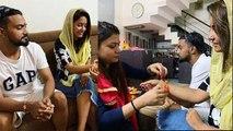 Hina Khan celebrates Rakhi with Rocky Jaiswal & family; Check out | FilmiBeat