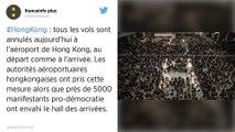Hong-Kong : Les vols en provenance et à destination de la ville ont été annulés