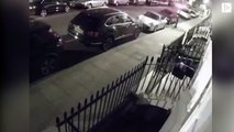 A driver collides with 11 cars parked on a London street