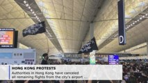 Hong Kong airport suspends flights amid protests