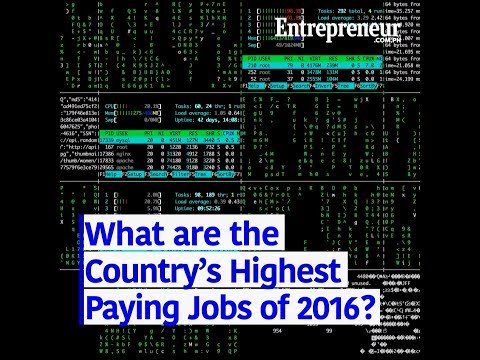 What are the Country's Highest Paying Jobs of 2016?