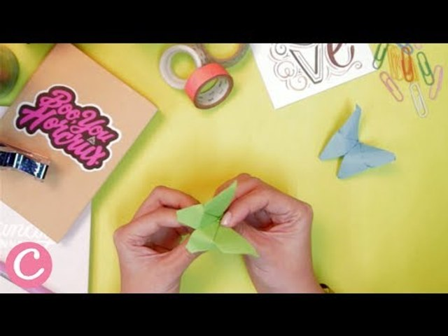 Here's an Origami Tutorial for a Fluttering Butterfly