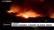 L'île de Grande Canarie toujours en proie aux flammes