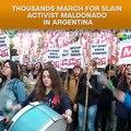 Thousands March For Maldonado