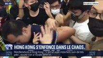 Une manifestation pacifique dégénère dans l'aéroport de Hong Kong