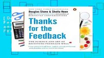 [Doc] Thanks for the Feedback  The Science and Art of Receiving Feedback Well