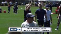 Jon Bon Jovi, Bruce Cassidy Take In Patriots Training Camp Practice