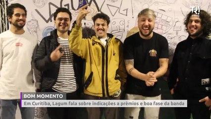 Em Curitiba, Lagum fala sobre indicações aos prêmios Multishow e Nick e boa fase da banda