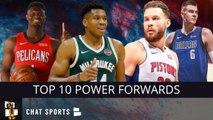 Top 10 Power Forwards In The NBA For The 2019-20 Regular Season Ft. Giannis, Zion, Porzingis & More!