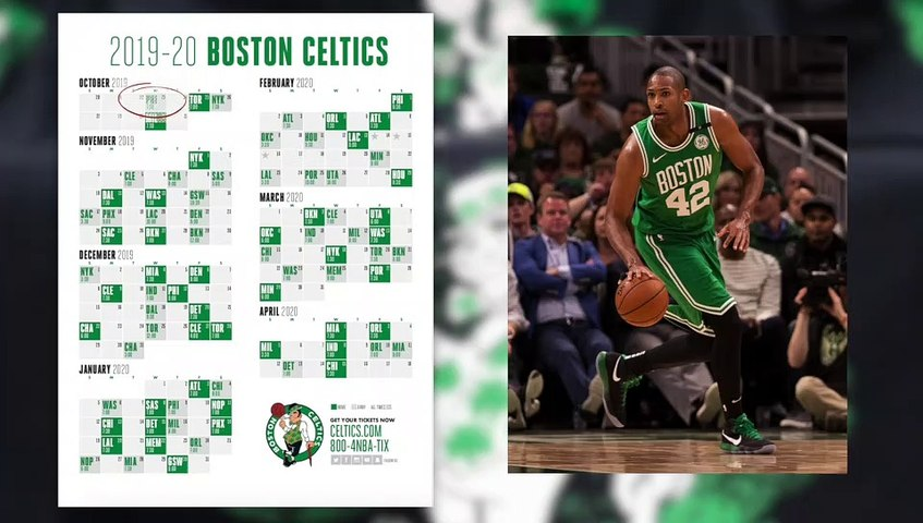 Celtics 2019-2020 Schedule Is Out