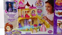 Princess Sofia the First Toy Castle _ Disney Princess Magical Talking Palace Unboxing