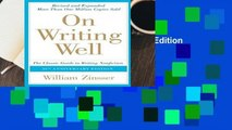On Writing Well, 30th Anniversary Edition  Best Sellers Rank : #1