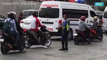 MMDA implements motorcycle-only lane amid yellow lane policy