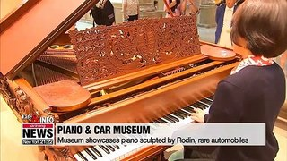 Museum showcases piano sculpted by Rodin, rare automobiles