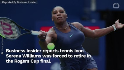 Suffering Back Spasms, A Crying Serena Williams Drops Out Of Rogers Cup Final
