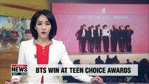 BTS win awards at Teen Choice Awards for third time