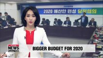 S. Korea's ruling party, government agree on need for expansionary fiscal spending next year