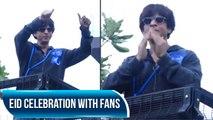 Shah Rukh Khan Celebrates Eid With Fans In Mumbai