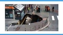 Amiens : un trou de cinq mètres de profondeur en plein centre ville