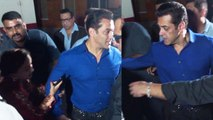 Salman Khan gets angry on his female fan; Watch Video | FilmiBeat