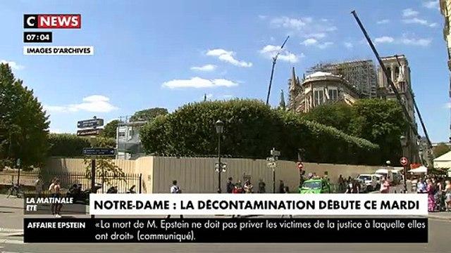 Les travaux de décontamination au plomb autour de la cathédrale Notre-Dame de Paris débutent aujourd'hui - VIDEO