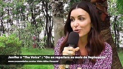 "Jenifer à Erbalonga : ""The Voice ? On en reparlera au mois de Septembre"""