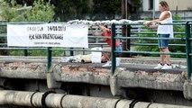 Primer aniversario del colapso del puente Morandi en Génova