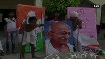 Watch -  Schoolchildren Pay Tribute To Mahatma Gandhi Through Sand Art, Paintings