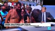 Crise politique en Italie : Matteo Renzi appelle à un front anti-Salvini