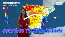 #TusNoticiasEltiempoHoy AEMET Subirán Temperaturas Diurnas Martes 13 de Agosto de 2019