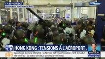 Hong Kong: vives tensions à l'aéroport entre la police et des manifestants