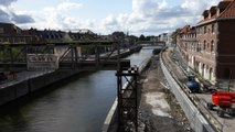 Tournai demontage passerelle pont a ponts 13.08.2019