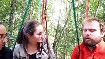 Déjeuner au resto branché dans les arbres à huit mètres de haut à Chaffois