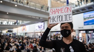 Chaos Continues at Hong Kong Airport Amid Large Protests