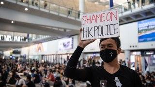 Chaos Continues at Hong Kong Airport Amid Large Protests