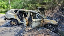 차량 화재로 2명 사상...관광버스 승객들이 구조 / YTN