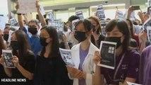 Tenaga Medis Hong Kong Gelar Unjuk Rasa