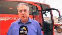 Ο υπουργός εσωτερικών Τάκης Θεοδωρικάκος στα Ψαχνά για τις πυρκαγιές