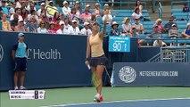 Victoria Azarenka into the Cincinnati Open second round after Belinda Bencic retires