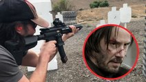 "How Keanu Reeves learned to shoot guns for ""John Wick"""
