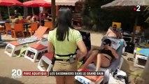 Parc aquatique: quand les saisonniers enfilent le maillot de bain