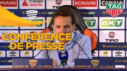 Conférence de presse FC Lorient - Le Mans FC (1-2) : Christophe PELISSIER (FCL) - Richard DEZIRE (LEMANS) - 2019/2020