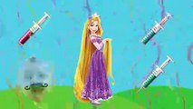 Learn Colors Wrong Colors With NEEDLE Disney Princess Jasmine Brave Tangled Cinderella Finger Fy (2)