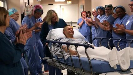 Hospital honors Marine who missed graduation for emergency surgery