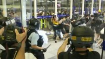 Hong Kong protesters attack suspected undercover cops during violent clashes